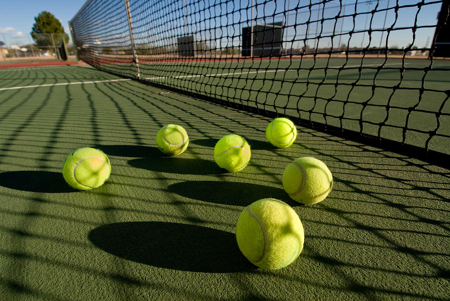 Tennis Balls And Court Photograph  - Tennis Balls And Court Fine Art Print