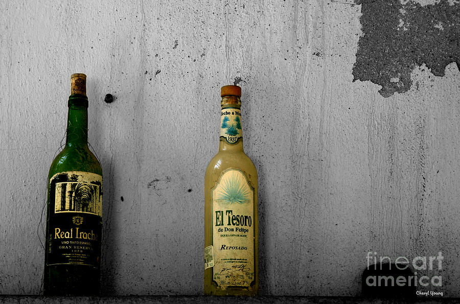 Tequila And Vino Tinto Photograph  - Tequila And Vino Tinto Fine Art Print