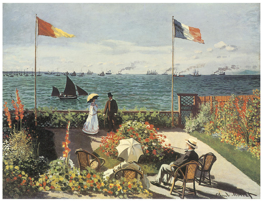 Terrace At Sainte-andresse Painting