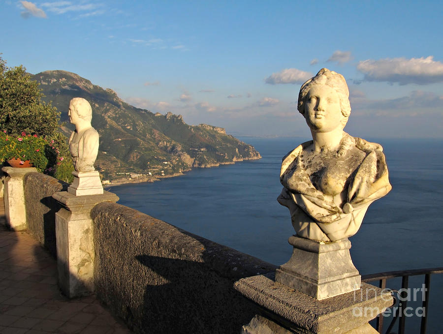 Terrace Of Infinity In Ravello On Amalfi Coast Photograph  - Terrace Of Infinity In Ravello On Amalfi Coast Fine Art Print