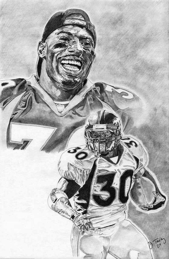 Terrell Davis Drawing