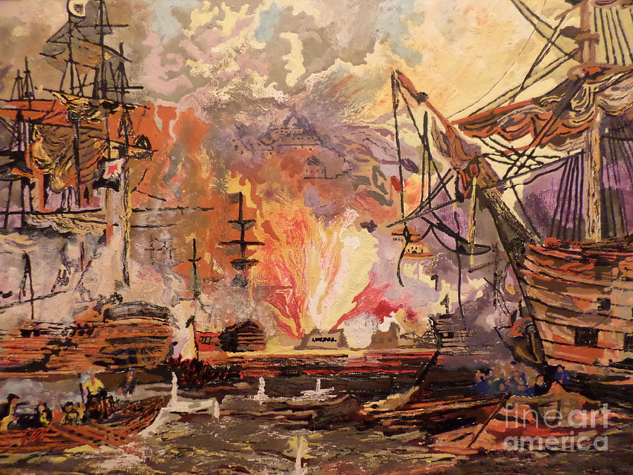 Terror On The High Seas Painting  - Terror On The High Seas Fine Art Print