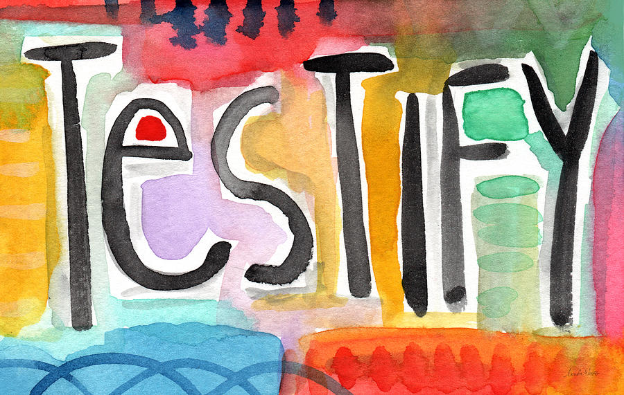 Testify- Colorful Pop Art Painting Painting