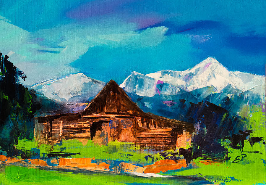 Teton Barn  Painting