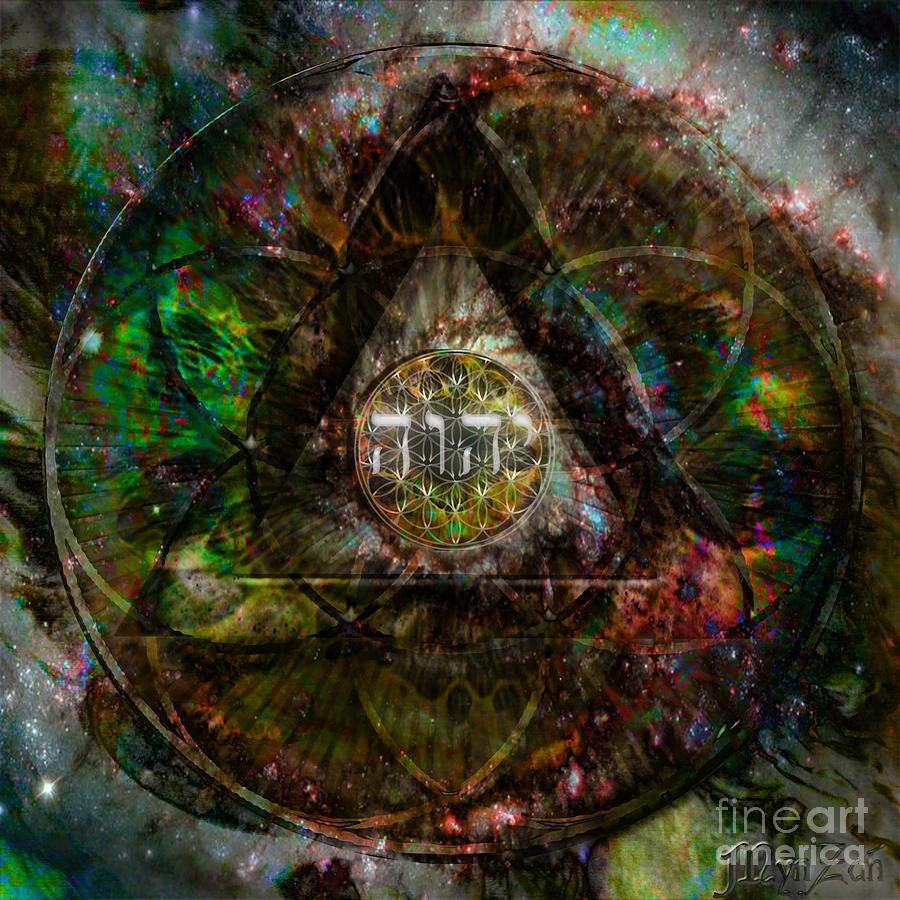 Tetragrammaton Digital Art By Mynzah Osiris