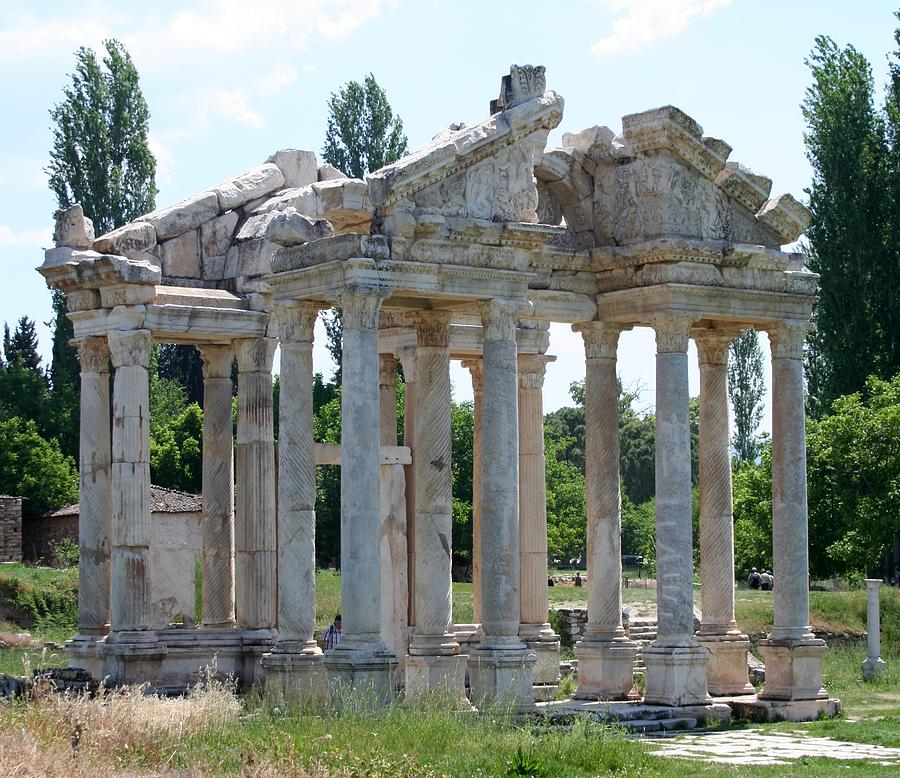 Aphrodisias Photograph - Tetrapylon The Arched Gate Of Aphrodisias by Tracey Harrington-Simpson
