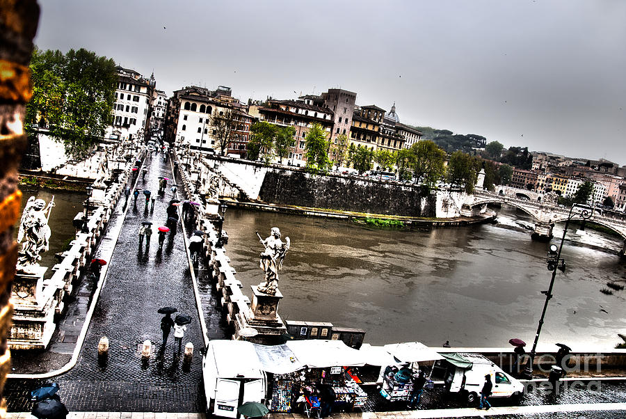 Tevere In Rain Photograph