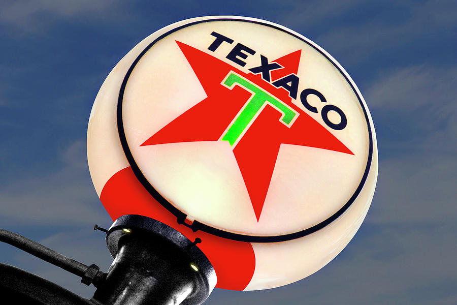 Texaco Star Globe Photograph
