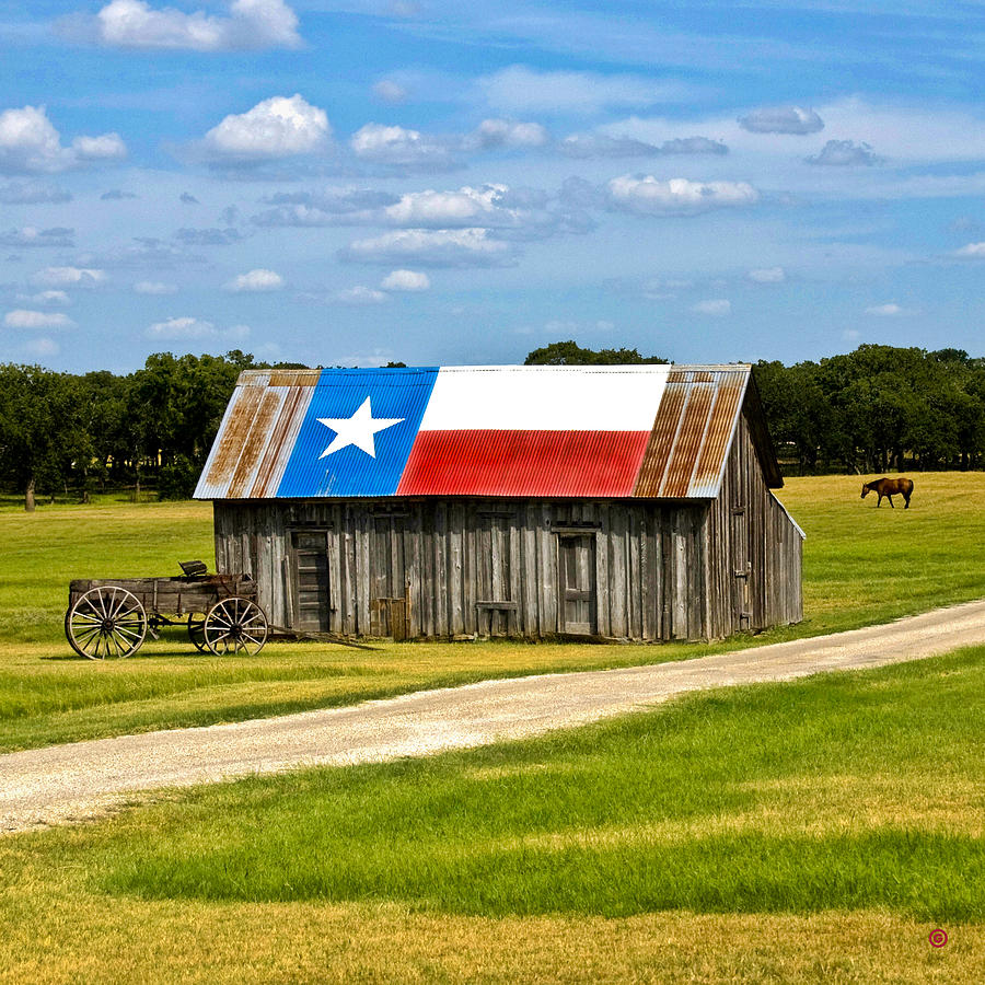 Texas Barn Flag Photograph