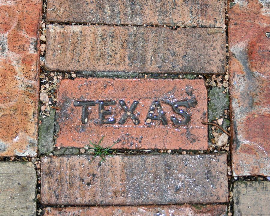 Texas Photograph - Texas Brick Walkway by Kathy Peltomaa Lewis