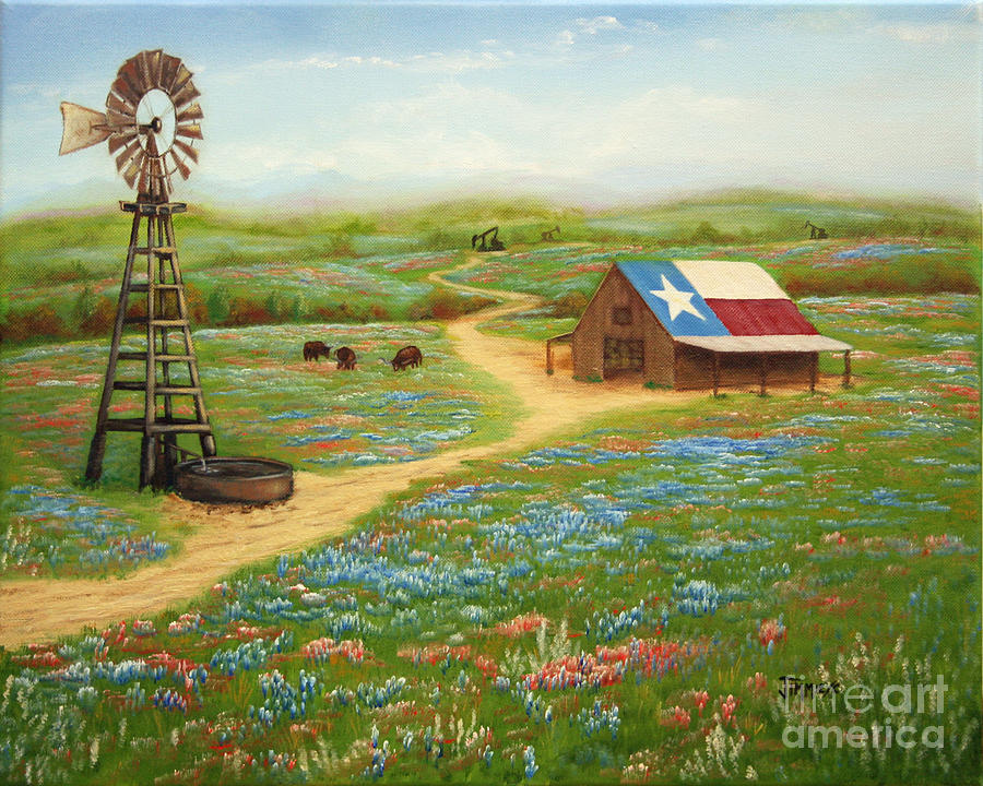 Texas Countryside Painting - Texas Countryside by Jimmie Bartlett