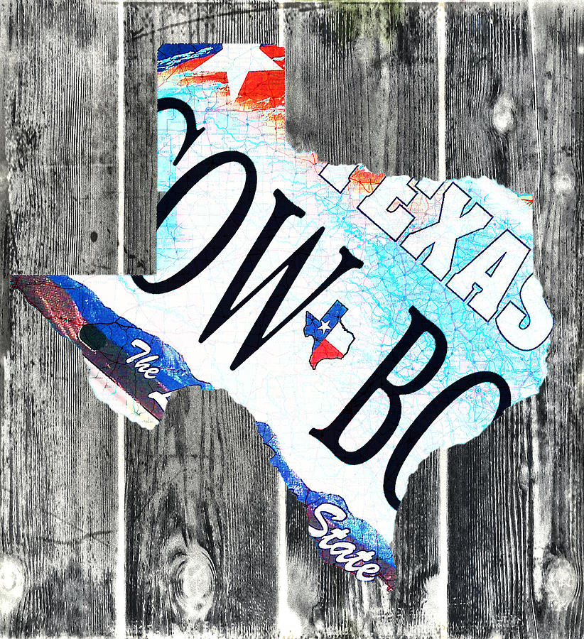 Texas License Plate Map Photograph  - Texas License Plate Map Fine Art Print