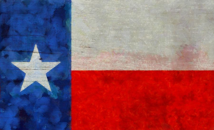 Texas State Flag Weathered And Worn Painting - Texas State Flag ...