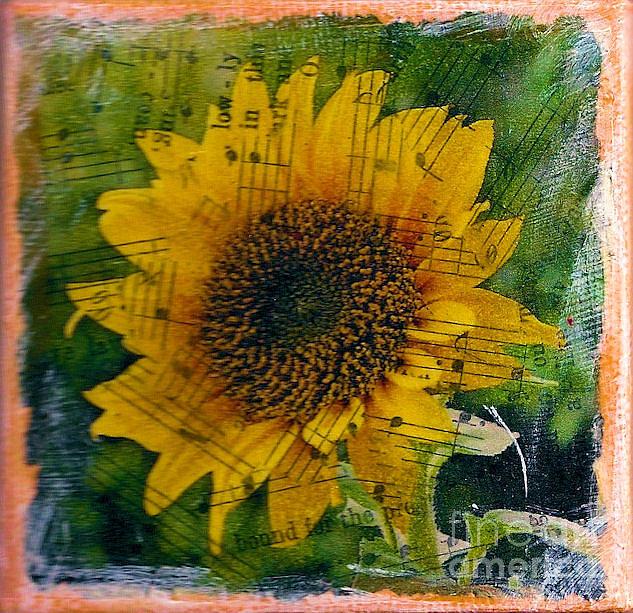 Texas Sunflower Yellow Mixed Media