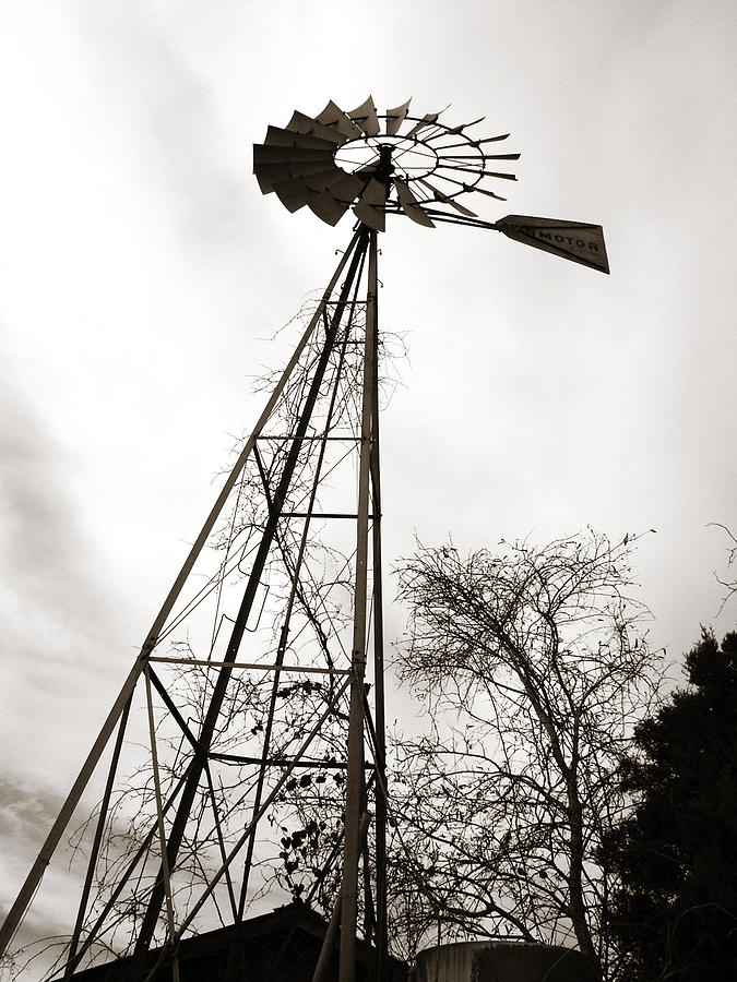 Texas Windmill Photograph