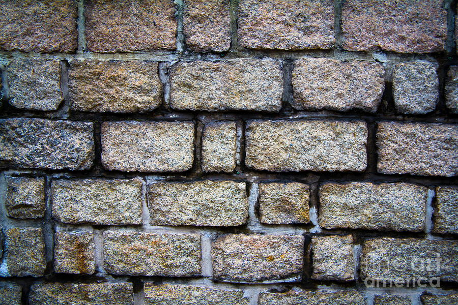 Square Photograph - Texture Of Old Wall by Niphon Chanthana