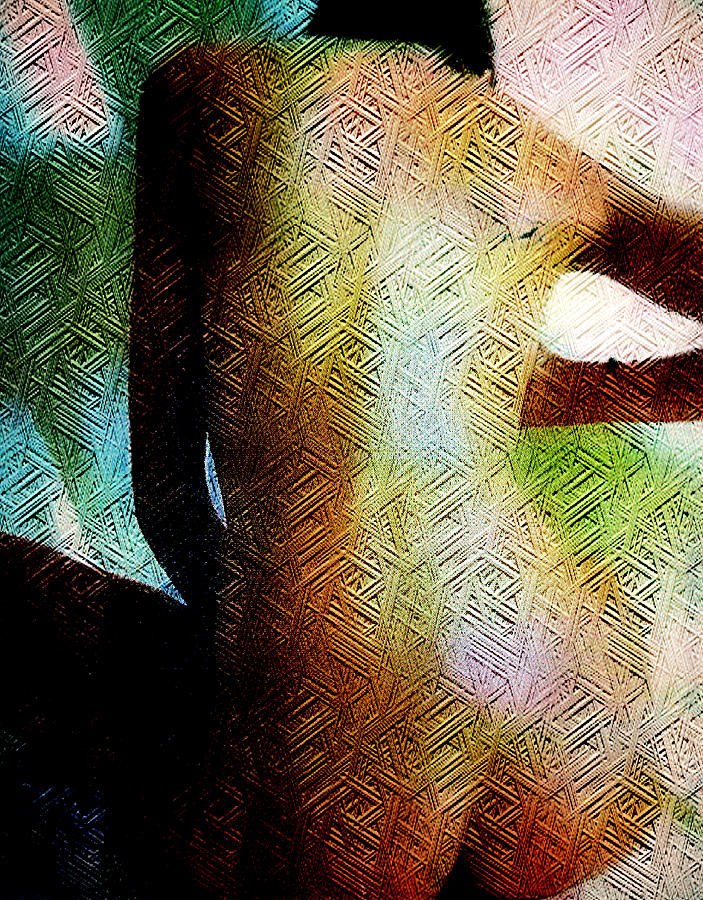 Textured Nude Mixed Media  - Textured Nude Fine Art Print