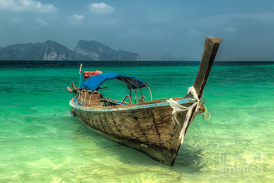 Thai Boat  Photograph  - Thai Boat  Fine Art Print