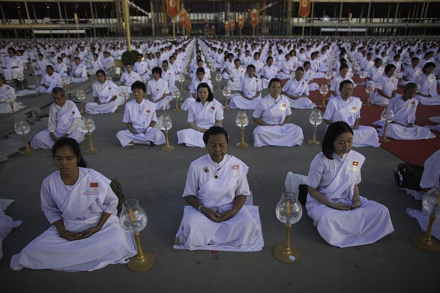 Thai Women Pray For Peace Photograph