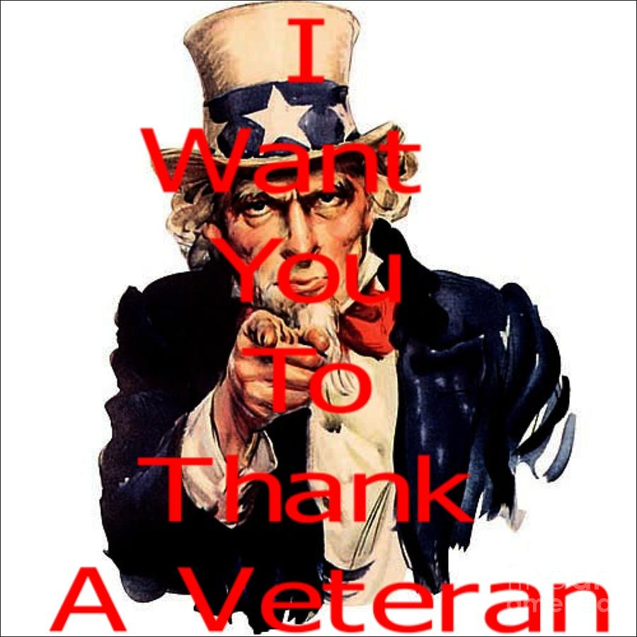 Thank A Veteran Digital Art  - Thank A Veteran Fine Art Print