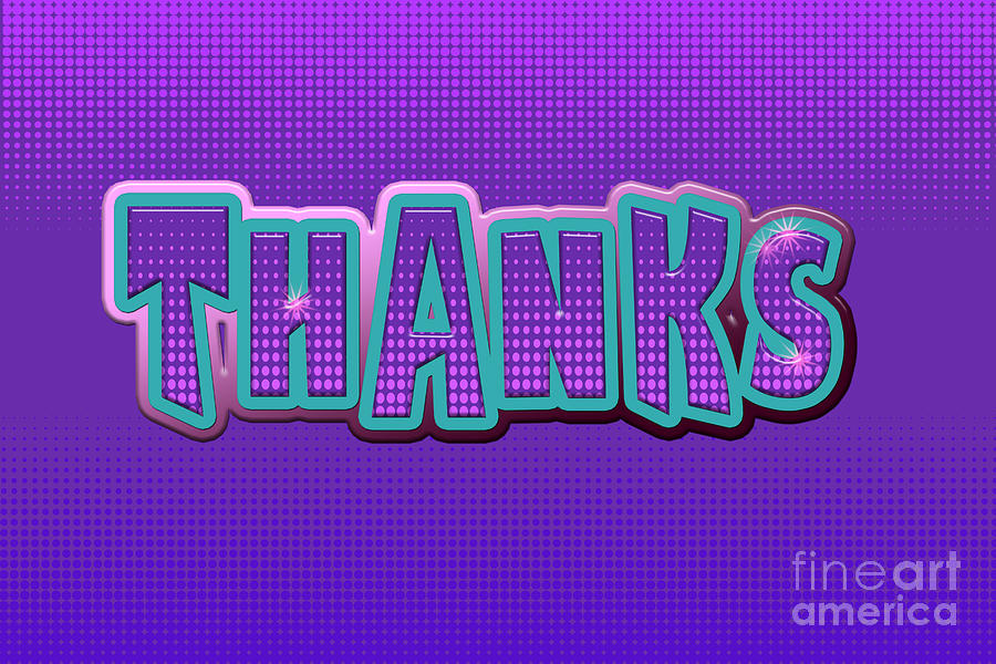 Thanks Greeting Card Digital Art