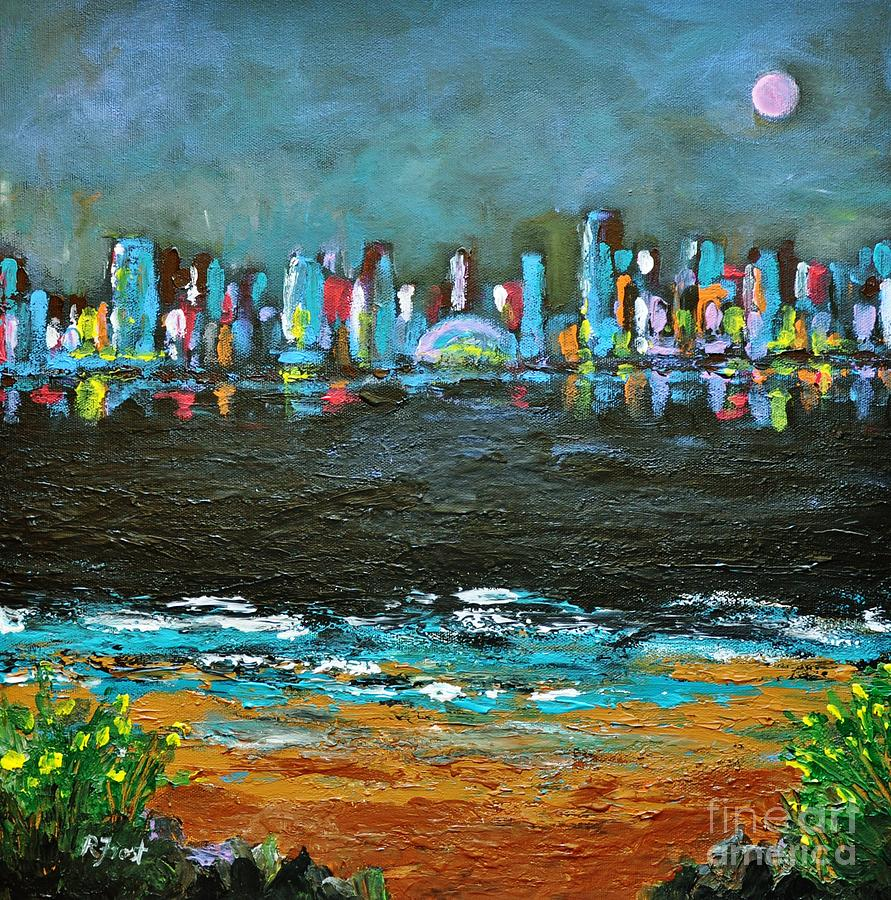Cities Painting - That Other Place by Reb Frost