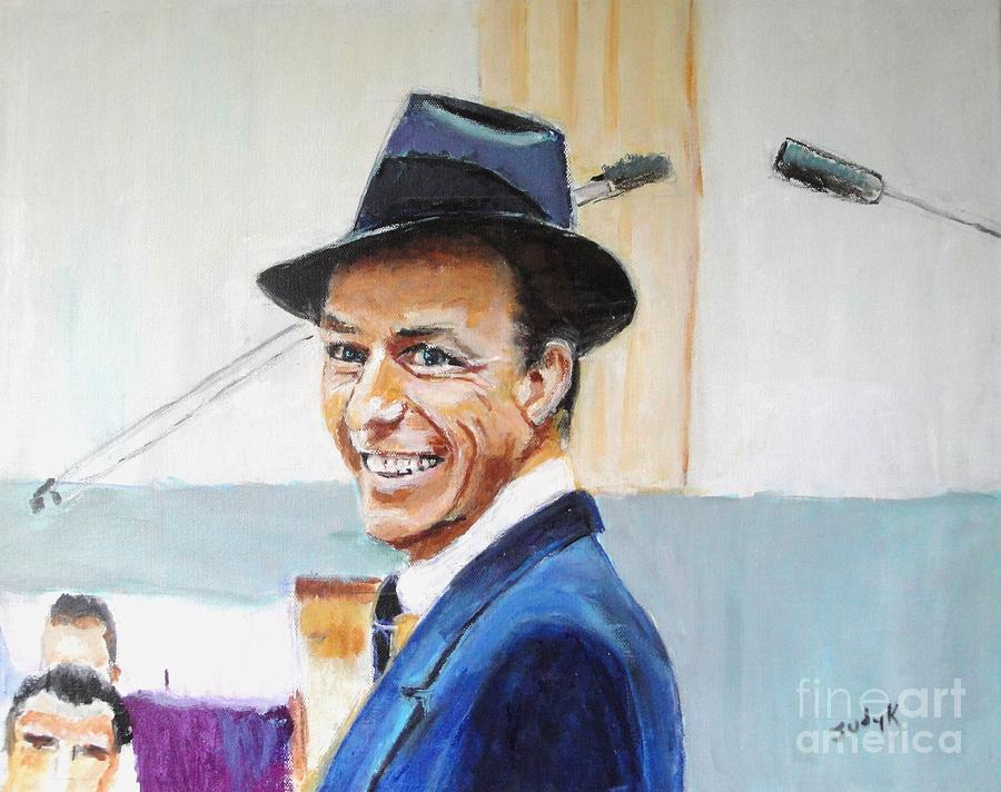 Frank Sinatra Painting - Thats Life by Judy Kay