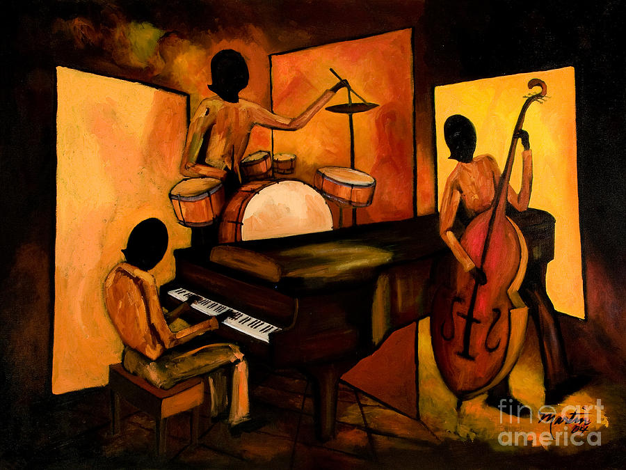 The 1st Jazz Trio Painting By Larry Martin