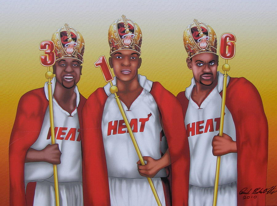 The 3 Nba Kings Painting  - The 3 Nba Kings Fine Art Print