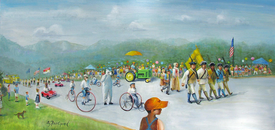 Parade Painting - The 4th Of July by Oz Freedgood