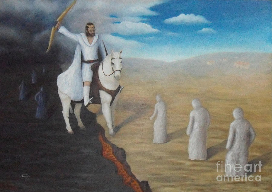 The 7 Seals Of Apocalipse - 1 Seal Conquest Painting