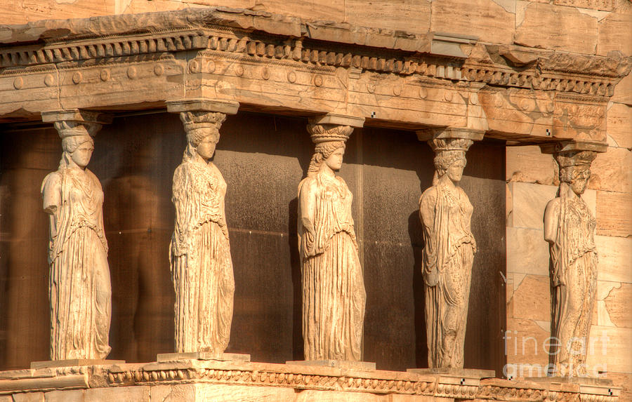 The Acropolis Caryatids Photograph  - The Acropolis Caryatids Fine Art Print