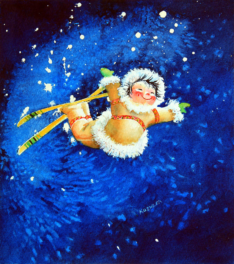 The Aerial Skier Painting