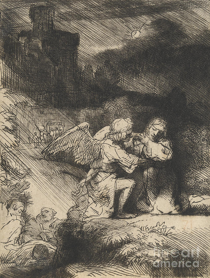 The Agony In The Garden Drawing
