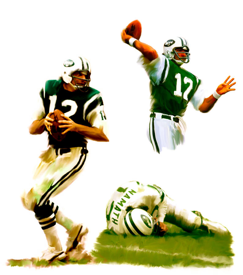 The Agony Of Greatness II  Joe Namath Painting  - The Agony Of Greatness II  Joe Namath Fine Art Print