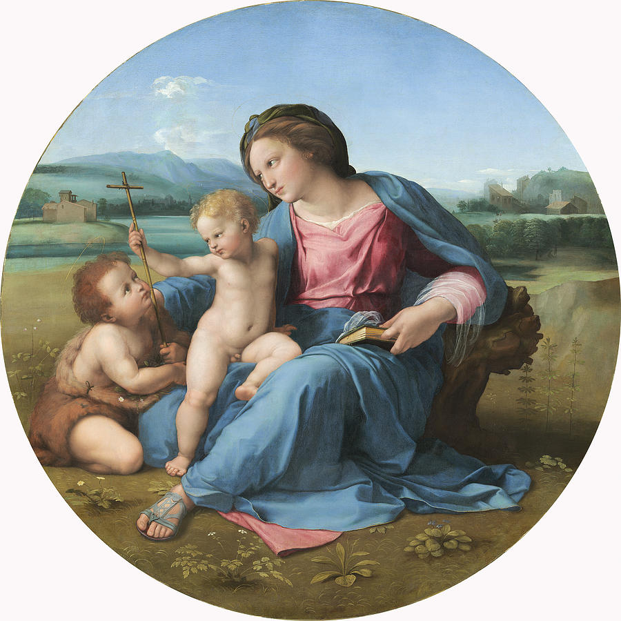 The Alba Madonna Painting
