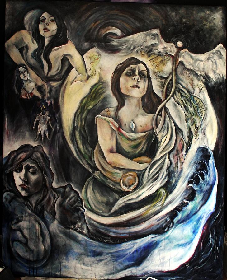 Archetype Alchemist Hilary Dow Painting - The Alchemist by Hilary Dow
