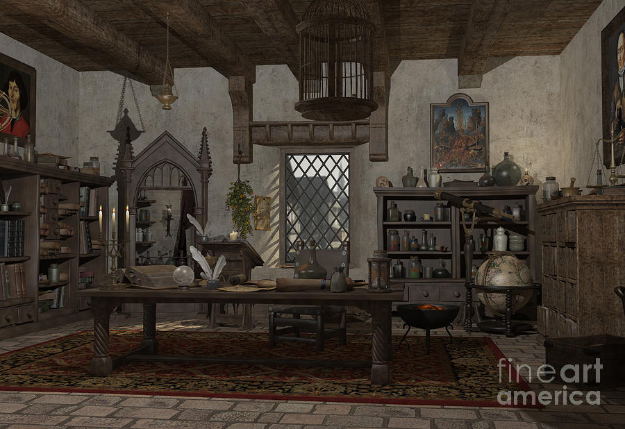 fantasy alchemist lab artwork lighting