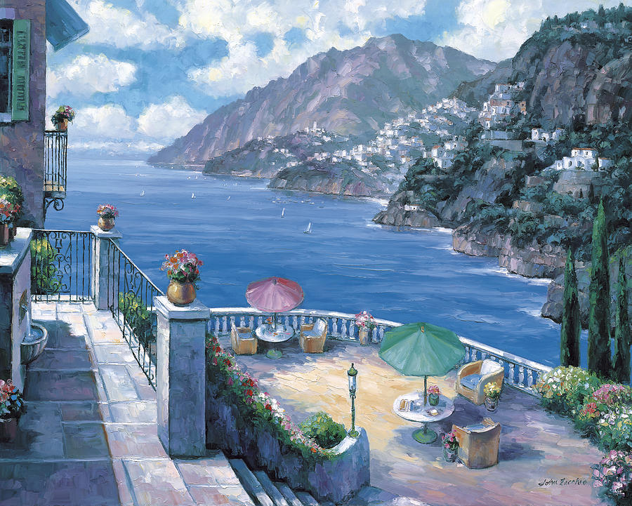 The Amalfi Coast Painting  - The Amalfi Coast Fine Art Print