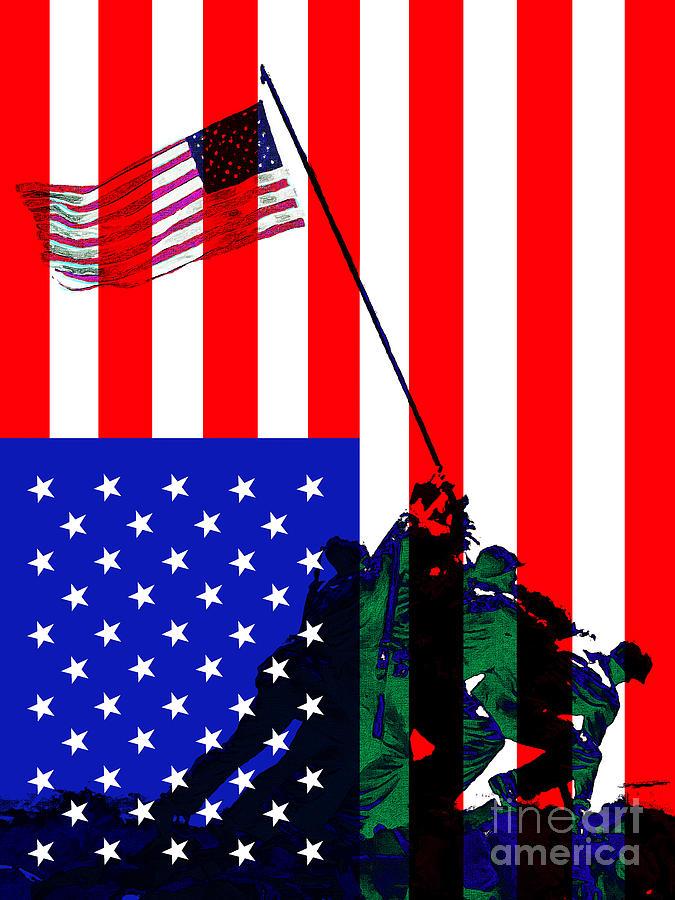 The American Flag Over Iwo Jima 20130210 Photograph