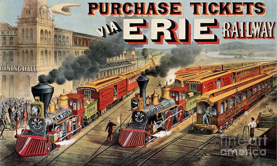 The American Railway Scene  Painting