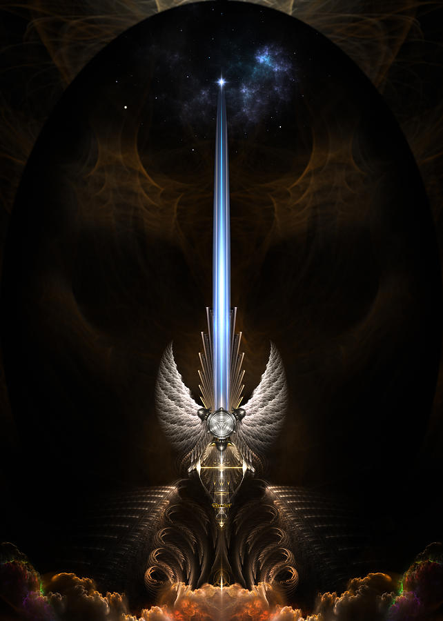 The Angel Wing Sword Of Arkledious Digital Art