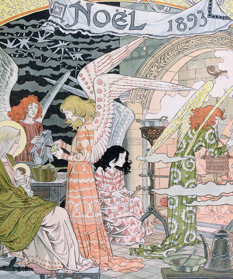 Angels Painting - The Angels Kitchen by Eugene Grasset
