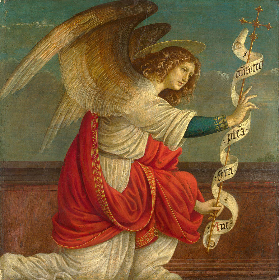 The Annunciation The Angel Gabriel Painting By Gaudenzio