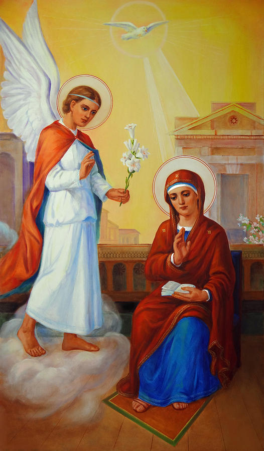 The Annunciation To The Blessed Virgin Mary Painting  - The Annunciation To The Blessed Virgin Mary Fine Art Print
