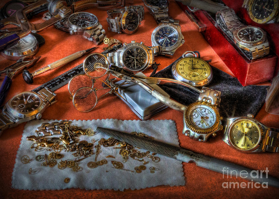 The Art Of The Timepiece Photograph - The Art Of The Timepiece - Watchmaker  by Lee Dos Santos