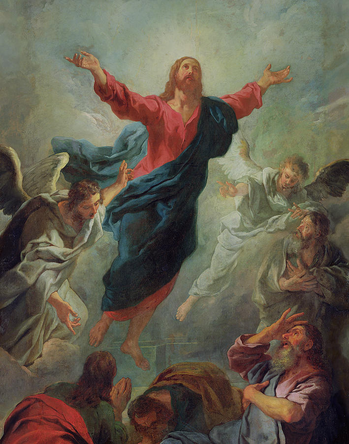 The Ascension Painting - The Ascension by Jean Francois de Troy