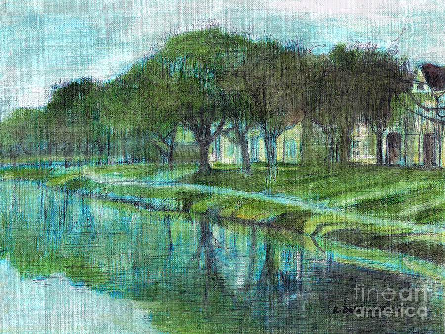 The Association Houses Painting  - The Association Houses Fine Art Print