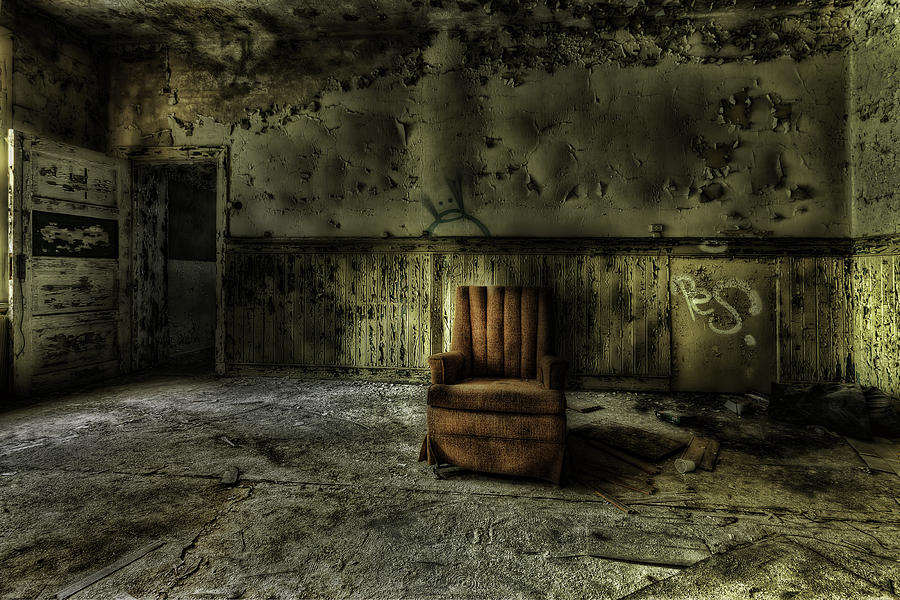 The Asylum Project - The Empty Chair Photograph  - The Asylum Project - The Empty Chair Fine Art Print