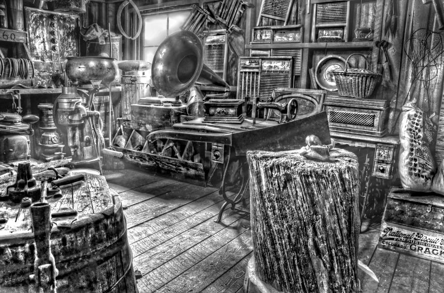 The Back Room Black And White Photograph